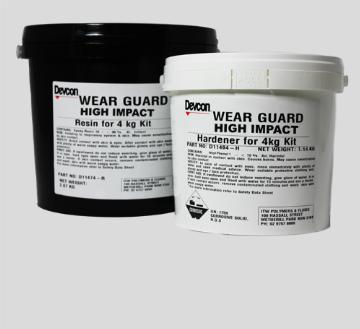 Wear Guard High Impact – a high density, micro alumina ceramic bead-filled epoxy system