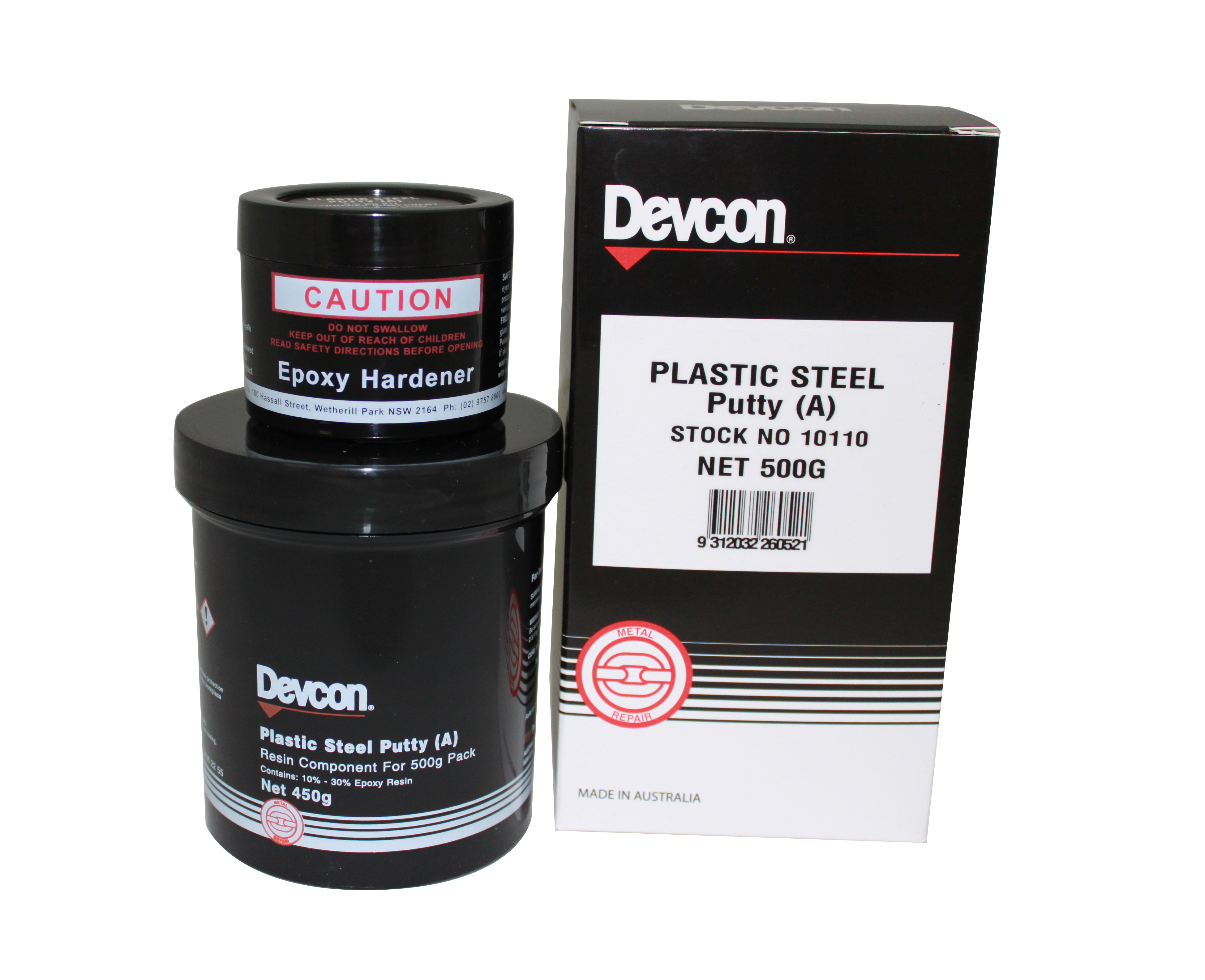 Plastic Steel Putty (A) – For filling, rebuilding and bonding metal surfaces.