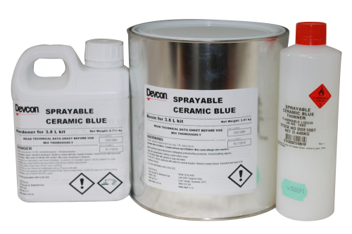 Sprayable Ceramic – reinforced composite