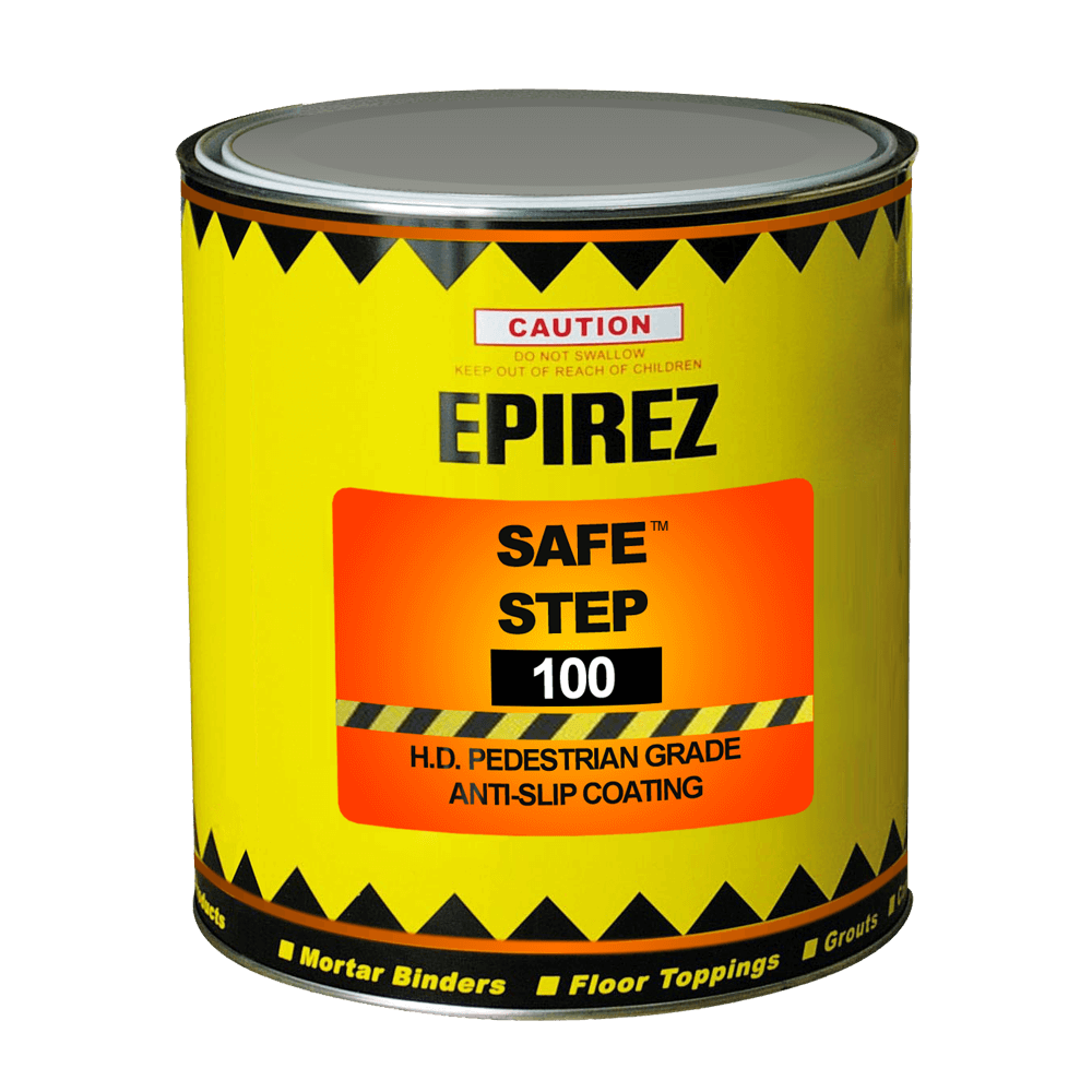 Safe Step 100 – both chemical resistant and fire retardant in the cured state