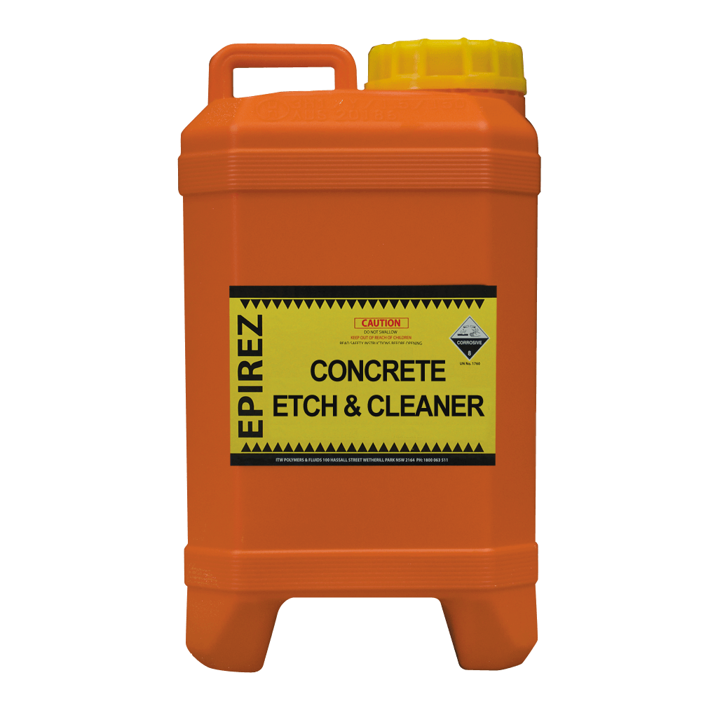 Concrete Etch & Cleaner – removes light oil contamination and surface stains