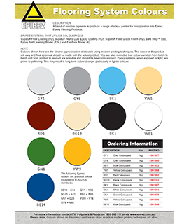 Flooring System Colours