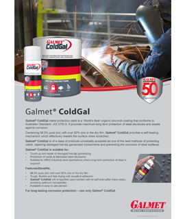 Galmet Cold Gal Product Flyer