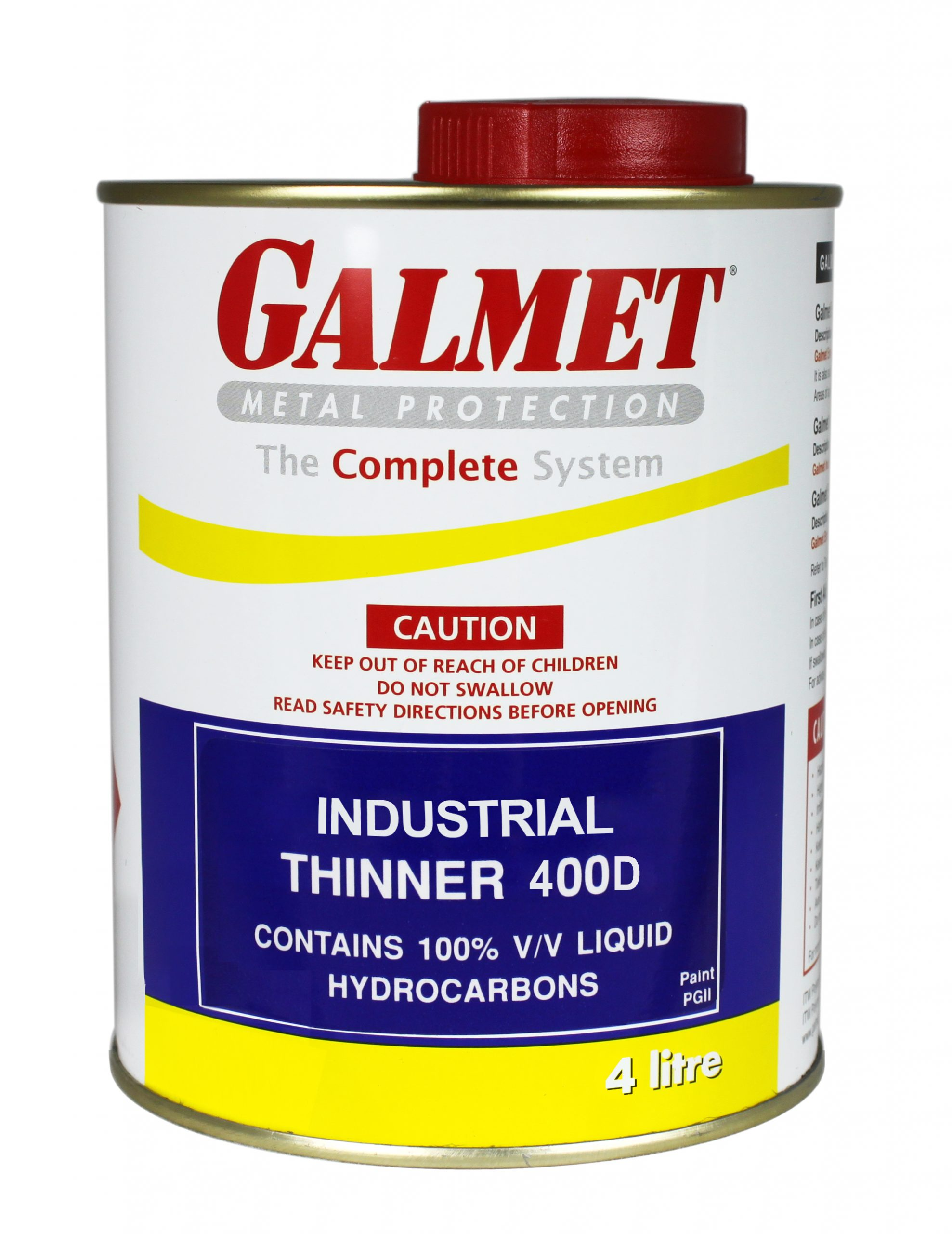 Galmet® Industrial Thinner 400D – Excellent degreasing action