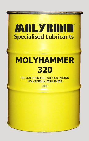 Molyhammer 320 – protect against wear with a blend of molybdenum disulphide, anti-oxidant, anti-rust and anti-foam additives