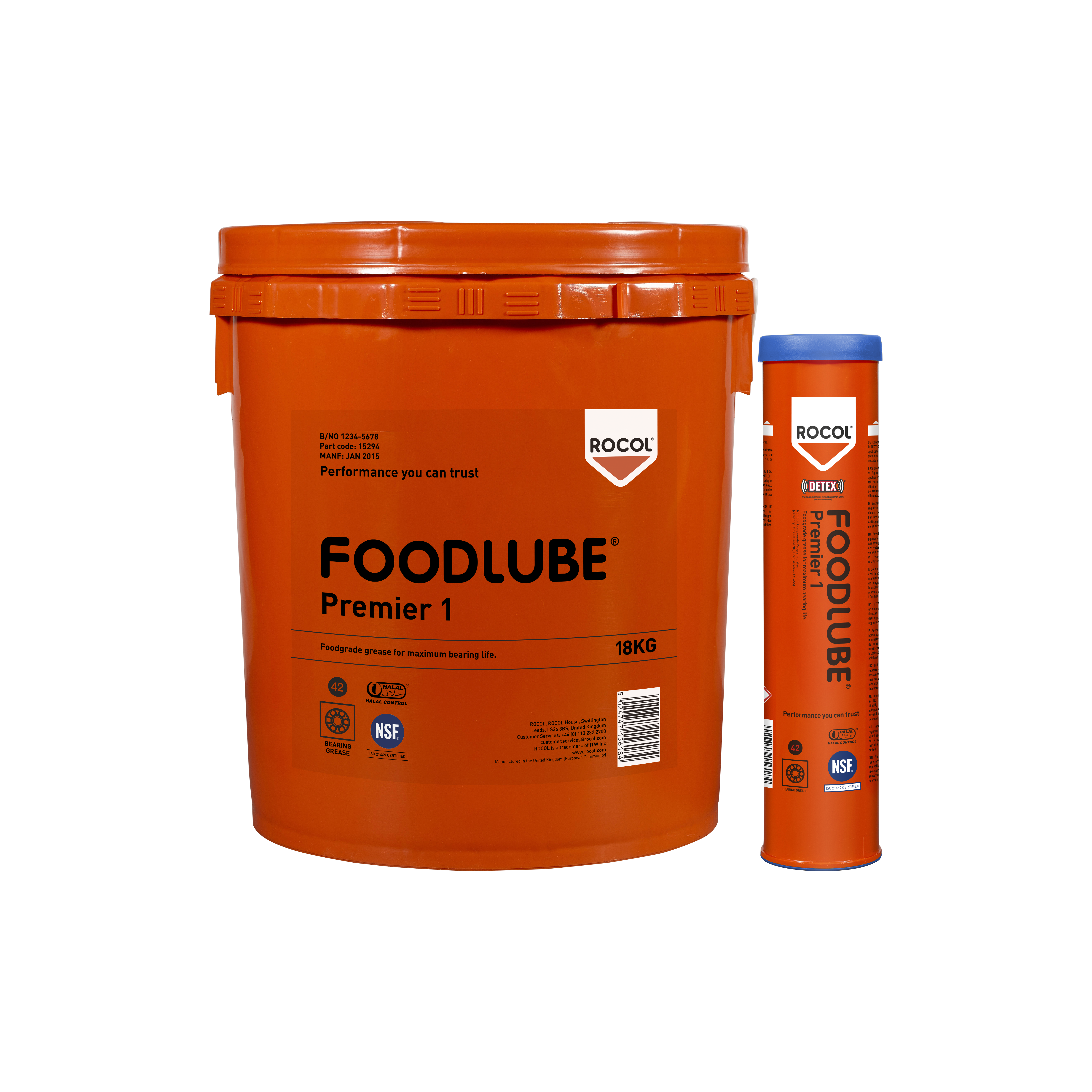 FOODLUBE Premier 1 – an excellent all round grease offering excellent water wash off resistance