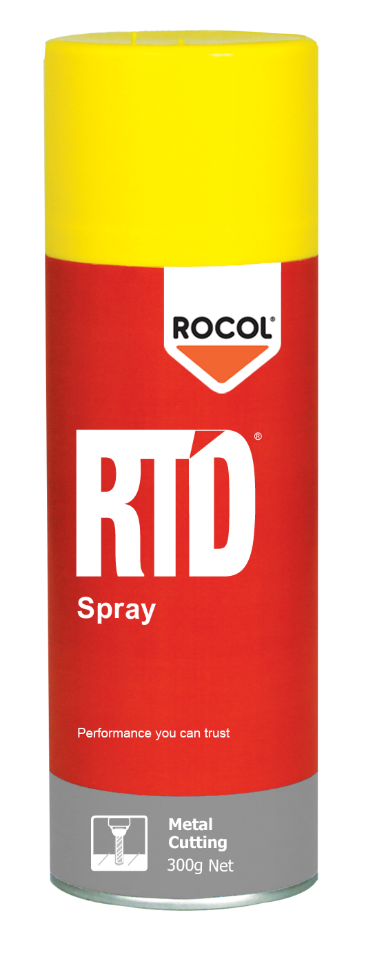 RTD Spray – Metal cutting spray used for reaming, tapping & drilling.  Suitable on most metals